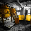 Industrial interior with storage tank in rusty colors — Stock Photo