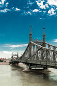 Great flood on the Danube in Budapest — Stock Photo