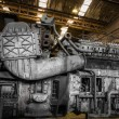 Diesel train engine in vehicle repair station — ストック写真