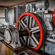 Motor driven elevator in the engine room — Stock Photo