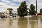 Record high flood in Budapest — Stock Photo