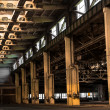 Stock Photo: Abandoned old vehicle repair station, interior