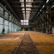 Abandoned old vehicle repair station interior — Stock Photo