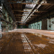 Stock Photo: Abandoned old vehicle repair station interior