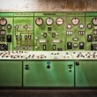 Electric controller room in an old metallurgical firm — Stock Photo