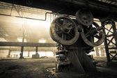 Antigua empresa metalúrgica esperando una demolición — Foto de Stock