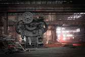 Old, metallurgical firm waiting for a demolition — Foto de Stock