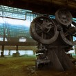 Stock Photo: Old metallurgical firm waiting for demolition
