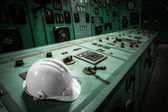 Electric controller room in an old metallurgical factory — Stock Photo
