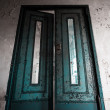 Old, worn, painted door  — Stock Photo
