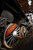 Rusty locomotive wheel detail — Stockfoto