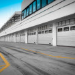 Auto-motor speedway garage station — Stock Photo