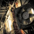 Industrial ventilator, brick wall — Stock Photo #34014049