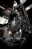 Martelo de vapor na fábrica de ferro — Foto Stock