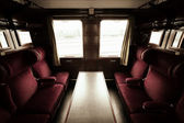 Antique train interior — Stock Photo