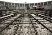 Train repair station, warehouse — Stockfoto