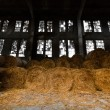 Stock Photo: Straw bale depository
