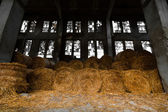 Straw bale depository — Stock Photo