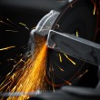Electric wheel grinding — Stock Photo