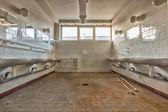 Antiguo lugar de trabajo común baño interior — Foto de Stock