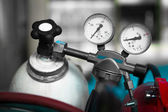 Two pressure gauge — Stock Photo