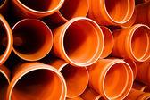 PVC tubes plastic — Stock Photo