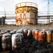 Toxic barrels — Stock Photo