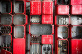 Industrial Fuse Cabinet close up — Stock Photo