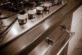 Electric kitchen stove control switch — Zdjęcie stockowe
