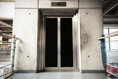 A modern elevator in the store — Stock Photo