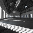 Stock Photo: Empty desolate industrial building inside