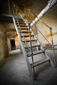 An old iron stair — Stock Photo