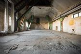 Old Abandoned industrial interior — Stock Photo