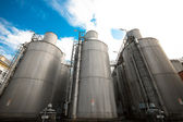 Beer processing and storage silos — Stockfoto