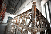 An old rusty wrought-iron railing — Foto de Stock