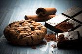 Small homemade chocolate cake — Stock Photo