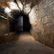 Inside an old industrial building, basement — Zdjęcie stockowe #41738247