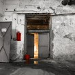 Inside an old industrial building, basement — 图库照片