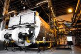 Modern industrial boiler, industrial building interior — Stock Photo