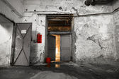 Inside an old industrial building, basement — Stock Photo