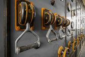 Stary kredens przełącznik elektroniki przemysłowej — Zdjęcie stockowe