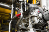 An engine of industrial equipment — Stockfoto