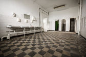 Old abandoned factory building washroom, toilet — Stock Photo