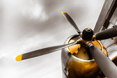 An old obsolete aircraft propeller — Foto Stock