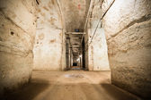 An old abandoned limestone mine corridors — Stock Photo