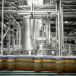 Interior of a modern brewery, equipment, tools, beer can — Stock Photo #46193743