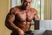 Portrait of the shirtless bodybuilder — Stock Photo