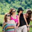 Group of girls having fun — Stok fotoğraf