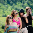 Group of girls having fun — Stockfoto