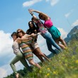 Group of girls having fun — Foto de Stock